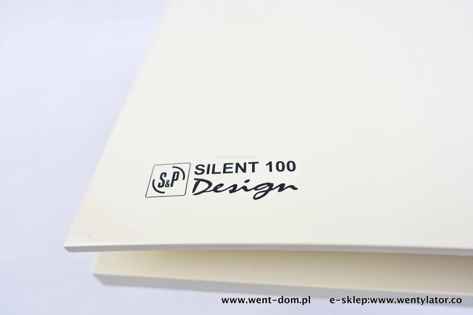 Wentylator silent design kremowy 100crz timer went dom for Decor 100 silent